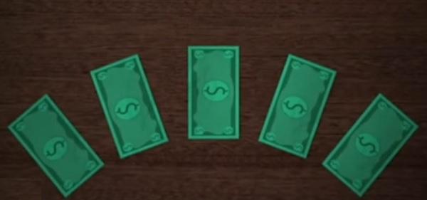 купюры иностранной валюты в инфокрасном излучение - проверяем на подлинность