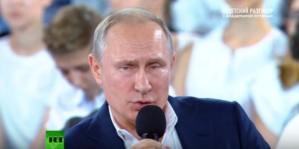 Путин на пресс-конференции для детей