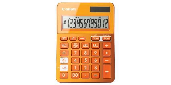 оранжевый калькулятор от кэнона