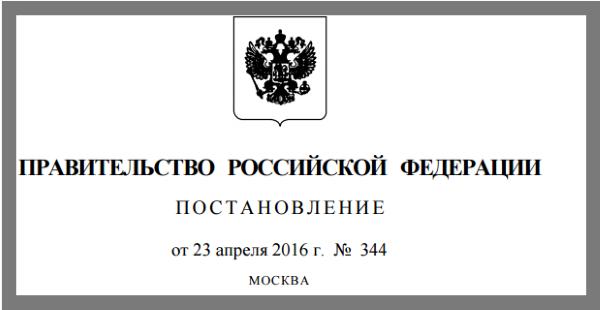 Скрин постановления правительства о господдержки кредитования на 2016 год