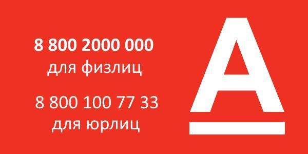 контактные телефоны альфа банка