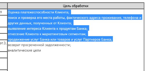 список того, что проверяет хкб у заемщика