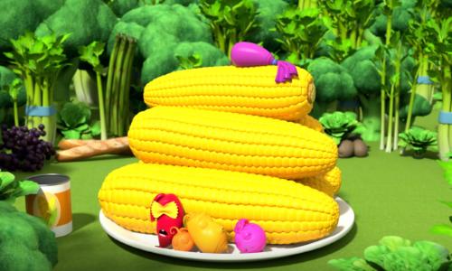 мульт кукуруза и другие овощи